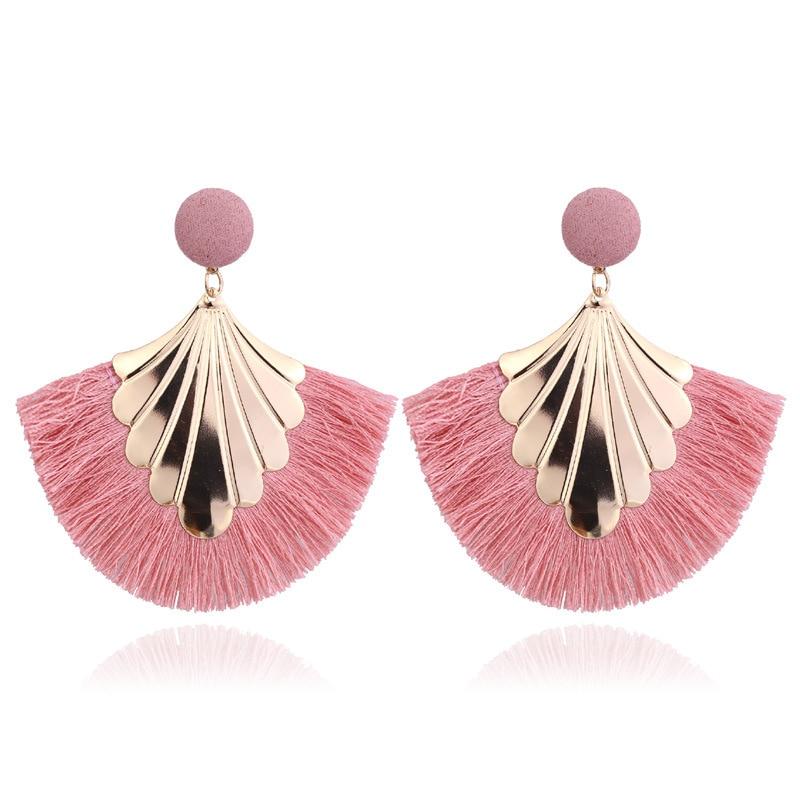 2020 Long Tassel Earrings For Women Big Fashion Statement Dangle Earring Bohemian Fringe Vintage Earring