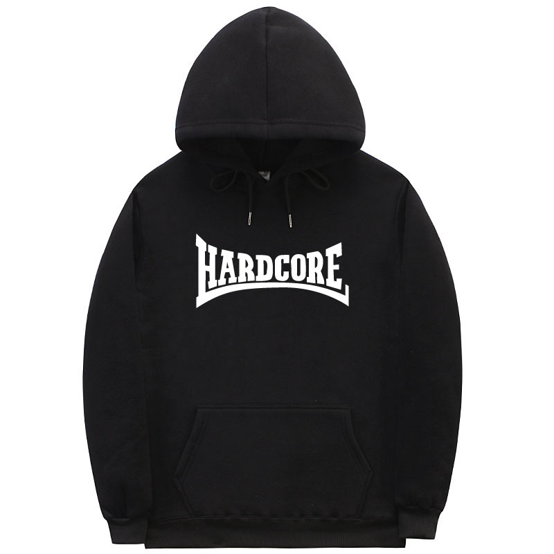 2018 Hardcore Hoodie Man Woman Fleece Sweatshirt Fashion Asian Oversize Cool Fun Autumn And Winter Couple Hoodies Pullover S-3XL