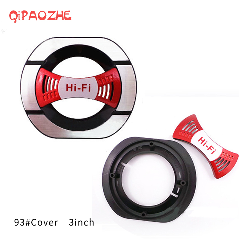 """2PCS 3/"""" Inch Plating Car Speaker Cover Tweeter Grille Waffle Mesk Grills Grille"""