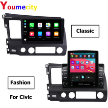 Eight Core/Android 9.0 Car Multimedia Player DVD Gps For Honda Civic 4d FN 8 Fk 2008 2006 2011 Radio IPS 2DIN 10.1inch Video BT