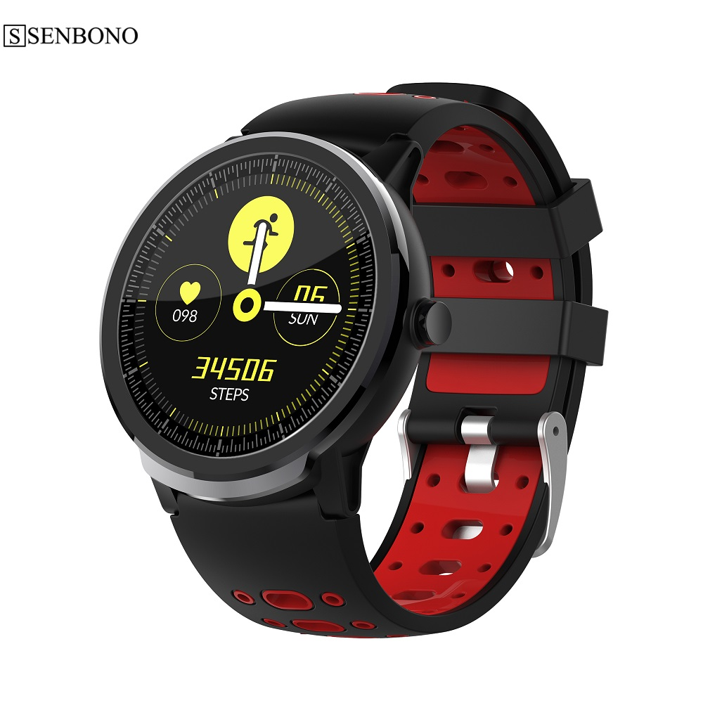 SENBONO S10pro Full Touch Smart Watch Heart Rate blood Pressure Monitor Wristband Men Women Sports Clock for IOS Android phone