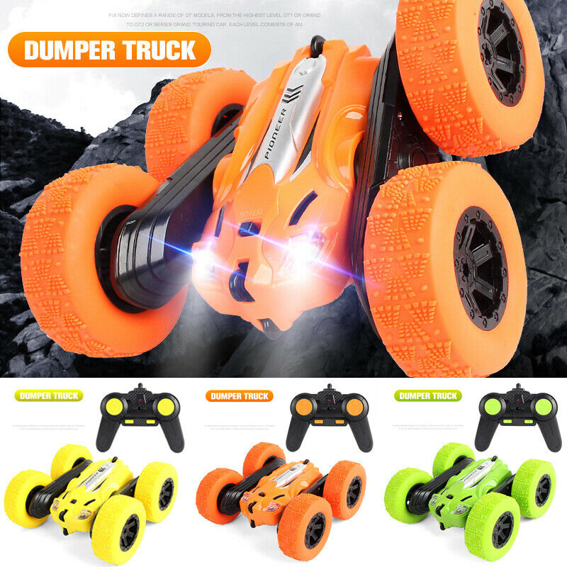 Goocheer RC Stunt Car Remote Control Truck Double Sided Rotation Tumbling 360°Flip RC Toy