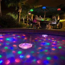 Battery Powered Floating Underwater RGB LED Disco Light Glow Show Swimming Pool Pond Fountain Outdoor Party Decorations Lamp