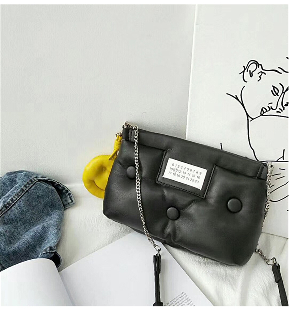 handbags Space Cotton celebrity with space cotton pillow button hand cross body shoulder woman bags