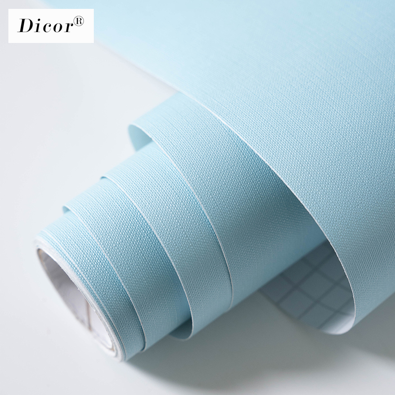 5M Macaron Solid Color PVC Waterproof Self Adhesive Wallpaper Living Room Kids Bedroom Decor Vinyl Contact Paper Kitchen Cabinet