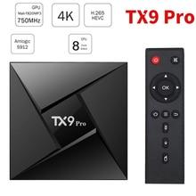 Top-Box Android 7.1 Tanix Amlogic S912 Tx9-Pro Media-Player Youtube Google 4K H.265 WIFI