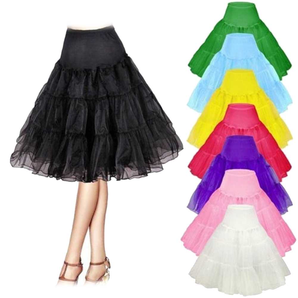 Chinese Style Woman Vintage Rockabilly Wedding Underskirt Petticoat Net Mesh Ballet Midi Skirt Cute Stage Performance Girl Skirt