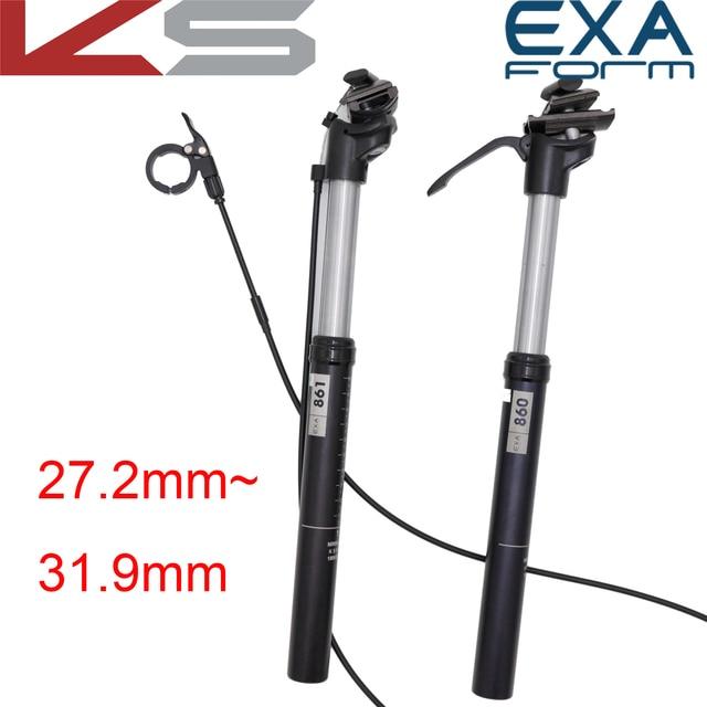 KindShock tige de siège télescopique, hauteur réglable, pour vélo de vtt, forme EXA, 27.2, 28.6, 30.4, 30.9mm, télécommande manuelle