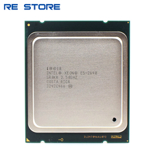 E5 2640 Xeon de Intel lga 2011 CPU procesador 2,5 GHz Six-Core 12-Hilo de apoyo X79 placa base