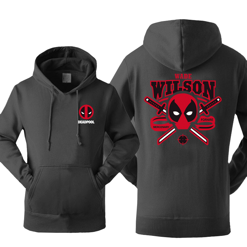 Superman Wade Wilson Deadpool Hoodies Men 2020 Autumn Winter Warm Fleece Men's Sweatshirts Hoodies Slim Fit Hip Hop Sportswear
