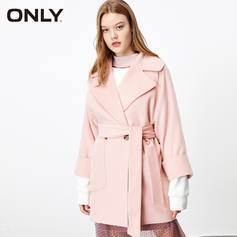 ONLY Winter Women Pure Color Lapel Collar Wool Coat| 11936T517