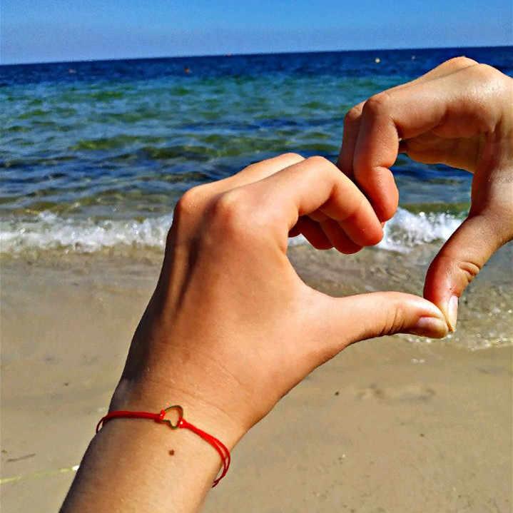 G. YCX pulsera ajustable con corazón de oro y plata para mujeres, hombres, cordel rojo, His & Her, BFF, pulseras a juego para parejas