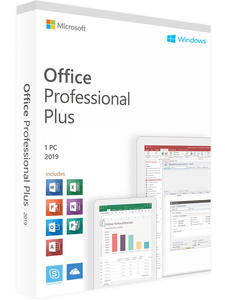Microsoft Key-Box Windows Professional Lifetime-Product Plus for Mac Office