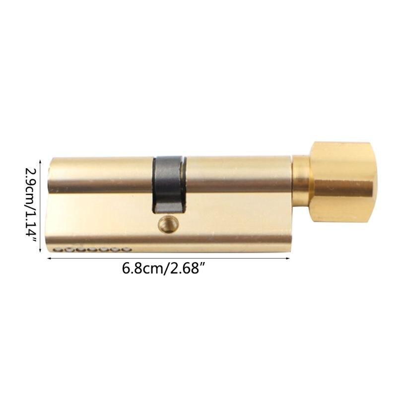 1Set Door Cylinder Lock Anti-theft Entrance Metal Door Lock with 3 Keys for Home