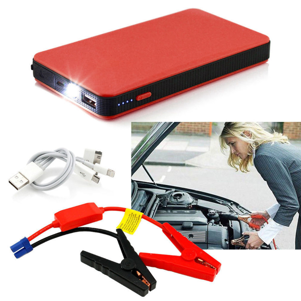 Cimiva Newest 5 Colors 10000mAh 12V Multi-Function Car Jump Starter Power Booster Battery Charger  Color Optional Hot Selling