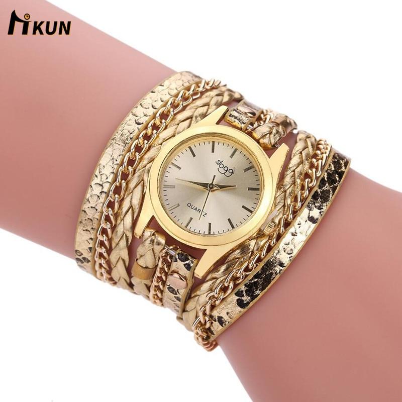 Sloggi Relogio Feminino Winding Dress Women Bracelet Watch Casual Relojes Mujer Vintage Style Ladies Quartz Wrist Watch Women