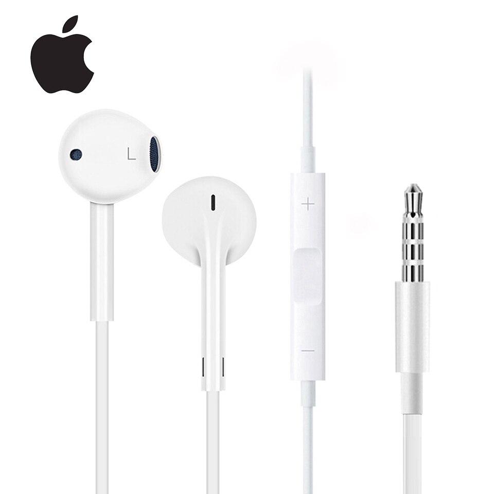 Оригинальные наушники-вкладыши Apple Earpods с разъемом 3,5 мм и разъемом Lightning, спортивные наушники, наушники с глубоким насыщением басов для iPhone/...