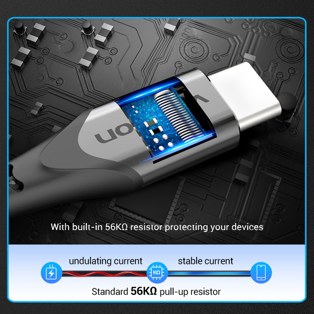 Vention USB Type C Cable for Huawei P40 3A Fast USB Charging USB C Charger Date Wire for Xiaomi Redmi note 8 Type-C Cabo Cable 4