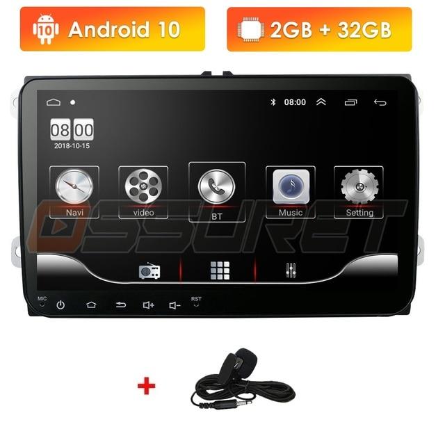 Samochodowy odtwarzacz DVD dla Seat Altea Leon Toledo volkswagen Passat Skoda seria GPS stereo audio nawigacja, Android 10 2 DIN Redio