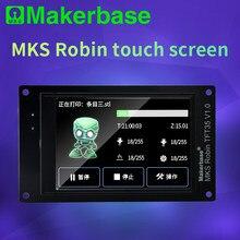 Makerbase 32-bit mks robin tela de toque com 2.4/2.8/3.2/3.5/4.3 polegada compatível com robin placa da série