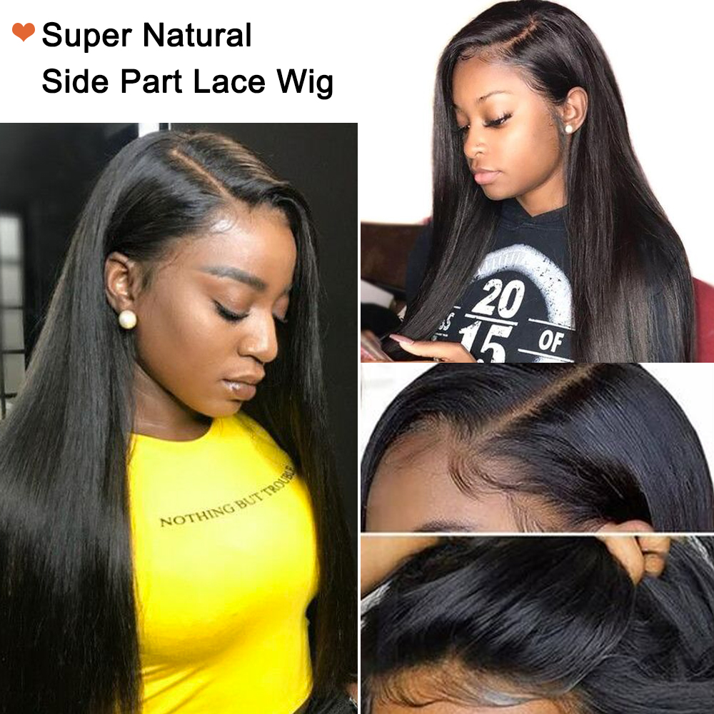 Nadula  Wigs 12-24inch Straight Lace Part Wig  Lace Wigs  Pre Plucked With Baby Hair 2