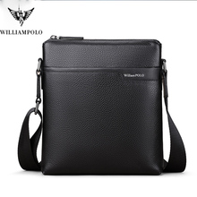 William Polo new leather men's messenger bag leisure Retro Leather multifunction