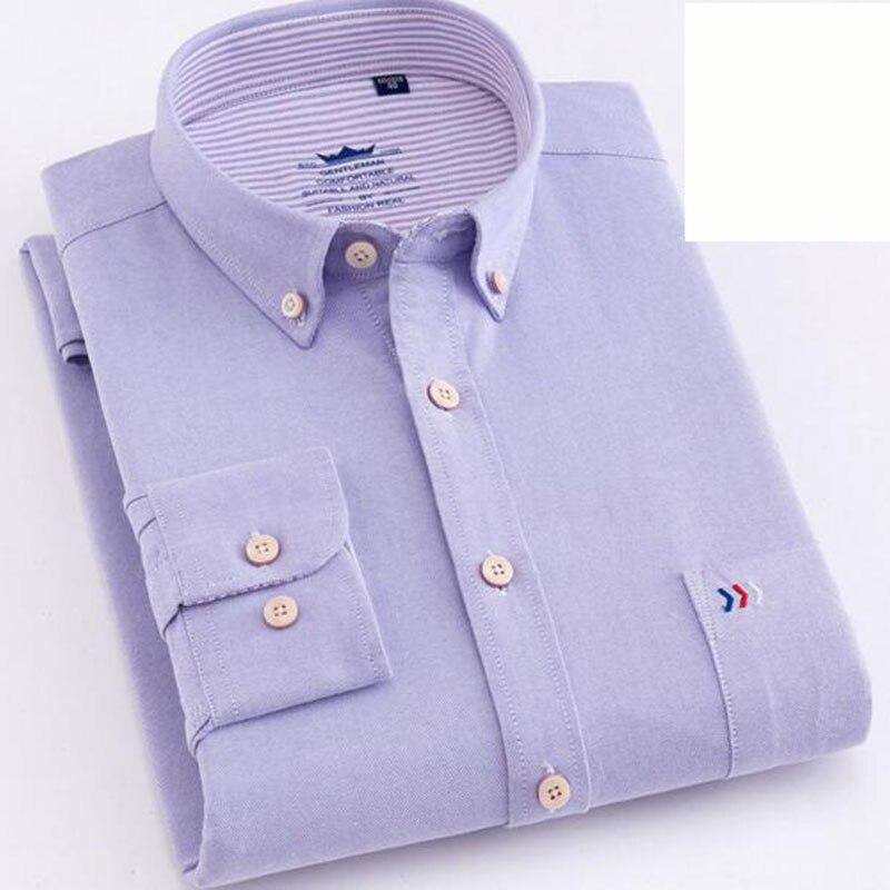 Couleur bonbon solide chemises décontractée Camisa, col rabattu simple boutonnage respirant confortable angleterre Style chemises tissu