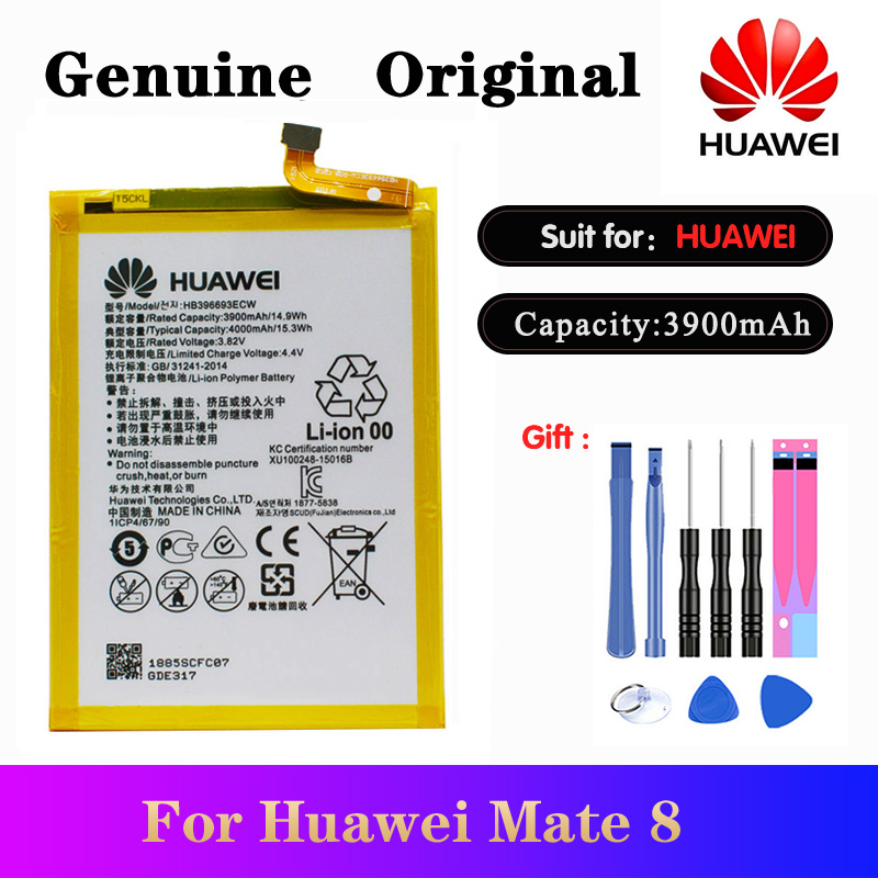 Original Huawei HB396693ECW Batteria 3900mAh For Mate 8 Battery NXT-AL10 NXT-TL00 NXT-CL00 NXT-DL00 NXT-L09 NXT-L29 Mate8 akku
