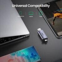 עבור מחשב USB קורא כרטיסים Ugreen 3.0 סוג C כדי SD Micro SD TF מתאם עבור מחשב נייד אביזרים OTG Cardreader חכם זיכרון SD Card Reader (4)