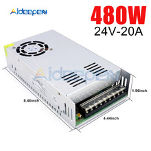 цена на DC 24V 20A 480W Switching Power Adapter 24V 20A 480 Watts Voltage Converter Regulated Switch Power Supply for LED