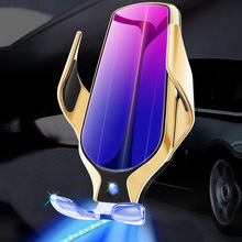 Qi Smart Sensor Car Wireless Charge Holder Fast Charging with Light for iPhone Samsung OUJ99
