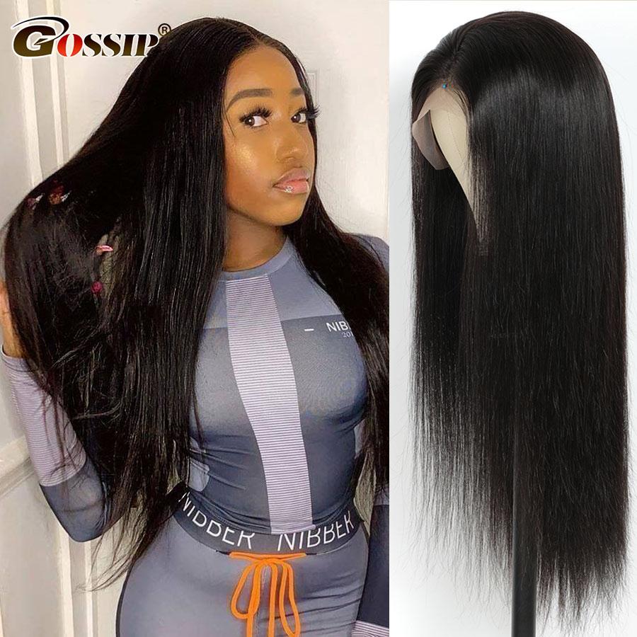 Perruque Lace Frontal Wig 360 sans colle brésilienne | Cheveux Remy lisses, 13x4 13x6, Lace Front Wig Transparent, pour femmes noires