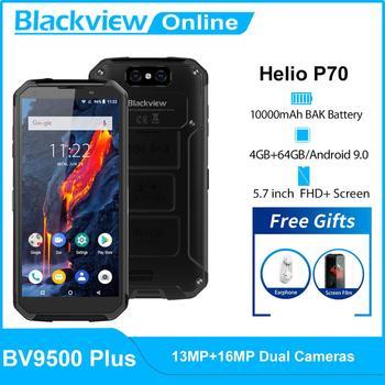 Перейти на Алиэкспресс и купить Blackview BV9500 плюс Helio P70 Octa Core IP68 Водонепроницаемый смартфон 10000 мАч 5,7 дюймFHD Экран 4 Гб + 64 ГБ Android 9,0 мобильный телефон