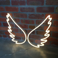 Personalised Angel Wing LED Neon Bar KTV Webcast Background Wall Decoration Led Light Princess Room Decoration Neon Fairy Decor(China)