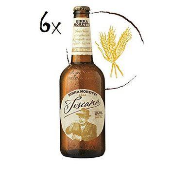 Morettu 6x Birra Moretti alla Toscana Italian Lager Beer 5,5% Vol 50 cl