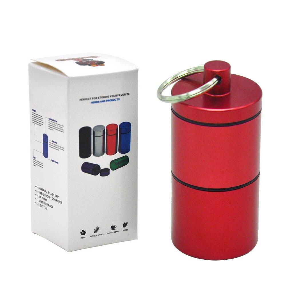 """HORNET Stash Jar-герметичный, устойчивый к запаху алюминиевый контейнер для специй с 2 слоями, чехол для табака """"вы можете собрать его самостоятельно"""" - Цвет: YH033-HP-Hong"""