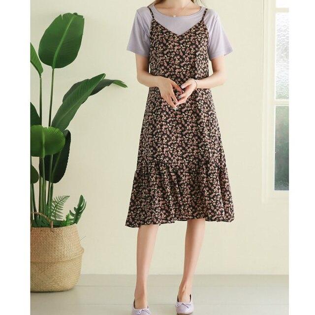Oversized Loose Women Sleeveless Dress 2020 Summer Print Female Dress Hollow Out Suspender Dress Bohemian Brand Robe KE501 3