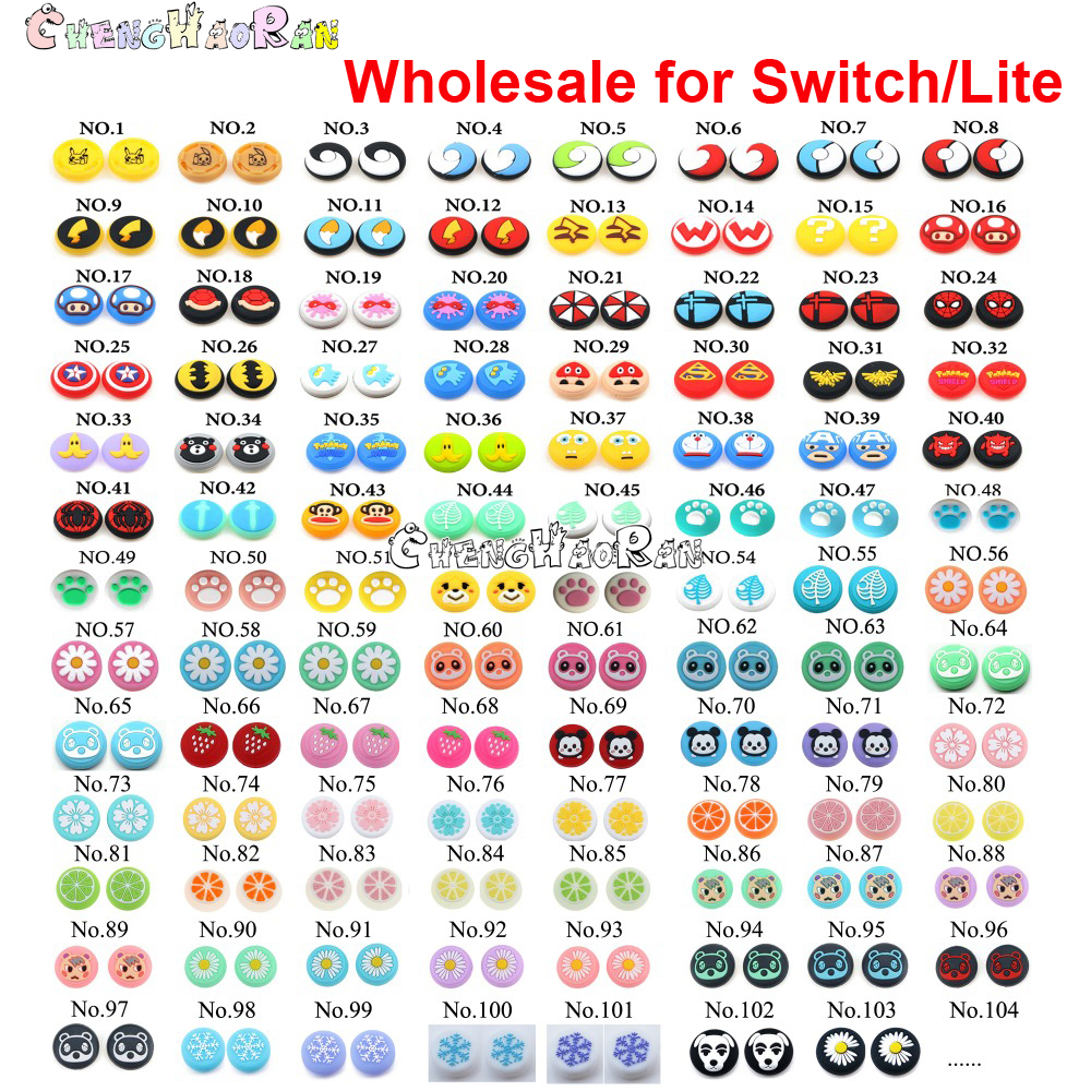 103colors 103pcs Silicone Analog Thumb Stick Grip Cap Thumbstick Joystick Cover Case for Nintend Switch NS JoyCon Controller