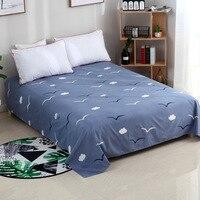 침대 시트 230cm x 230cm 식물 면화 시트 가정용 섬유 시트 플로랄 패턴 간단한 스타일 squeen 크기 침대 시트 세트