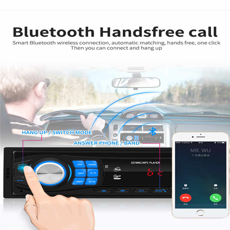 Auto Stereo MP3 Audio Player In Dash Kopf Einheit Bluetooth USB AUX FM Radio Empfänger Auto Stereo MP3 Player SWM 8013 einzigen 1DIN