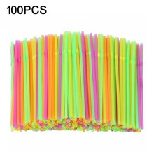 Rietjes Plastic Straws For Cocktail Multicolor Plastic Disposable Straws Home Party Cocktail Drink Wedding Decor Bar Accessories