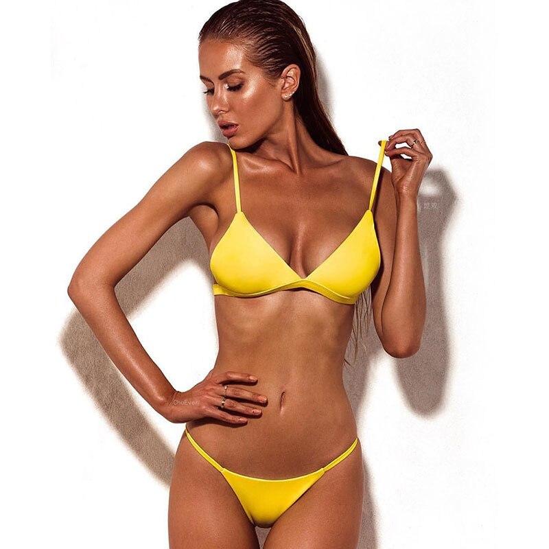 H78c02bb4af5344d890bb860dc54519efj Minimalism Le Sexy High Cut Bikinis Women Micro Thong Swimsuit Solid Swimwear Bathing Summer Brazilian Beachwear Biquini