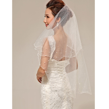 Bride Veil Simple And Elegent Wedding Bridal Veil Tulle White Ivory Two Layers Bride Accessories Short Women Veils With Comb