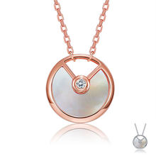 ZEMIOR Women Sterling Silver 925 Pendant Necklace Zircon Inlaid Talisman Necklaces Anniversaries Fine Jewelry The New Listing