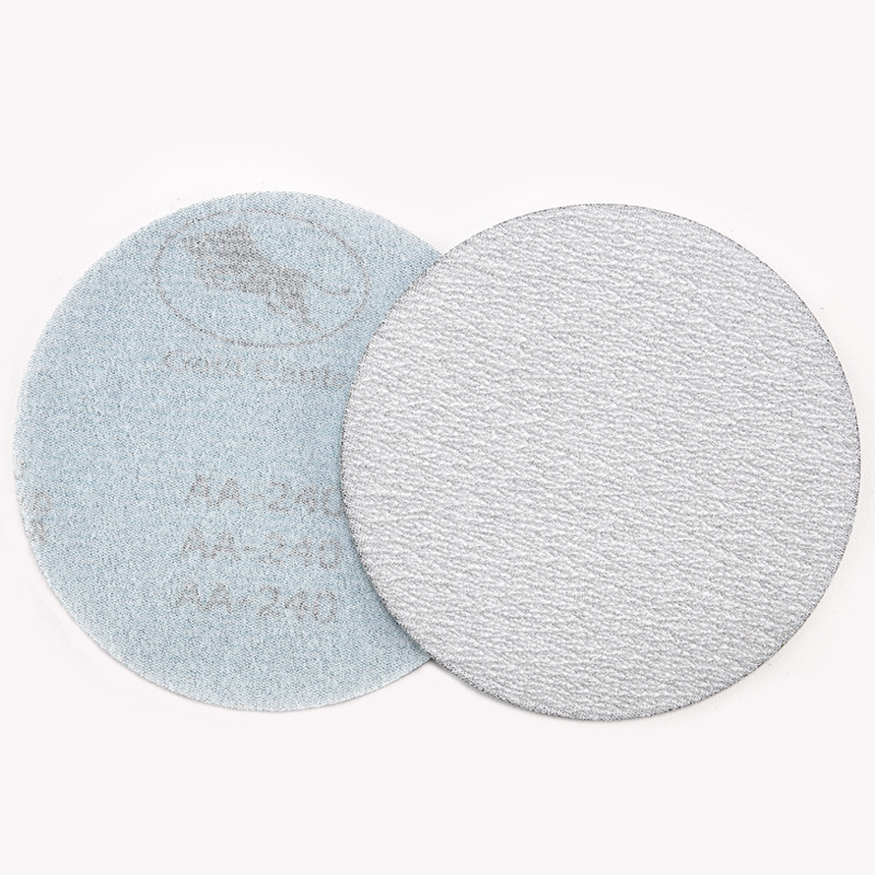 125 Mm Disc Sandpaper Dry Grinding White Sand Flocking Sandpaper Pieces 5-Inch Self-Adhesive Napper Flocked Sandpaper