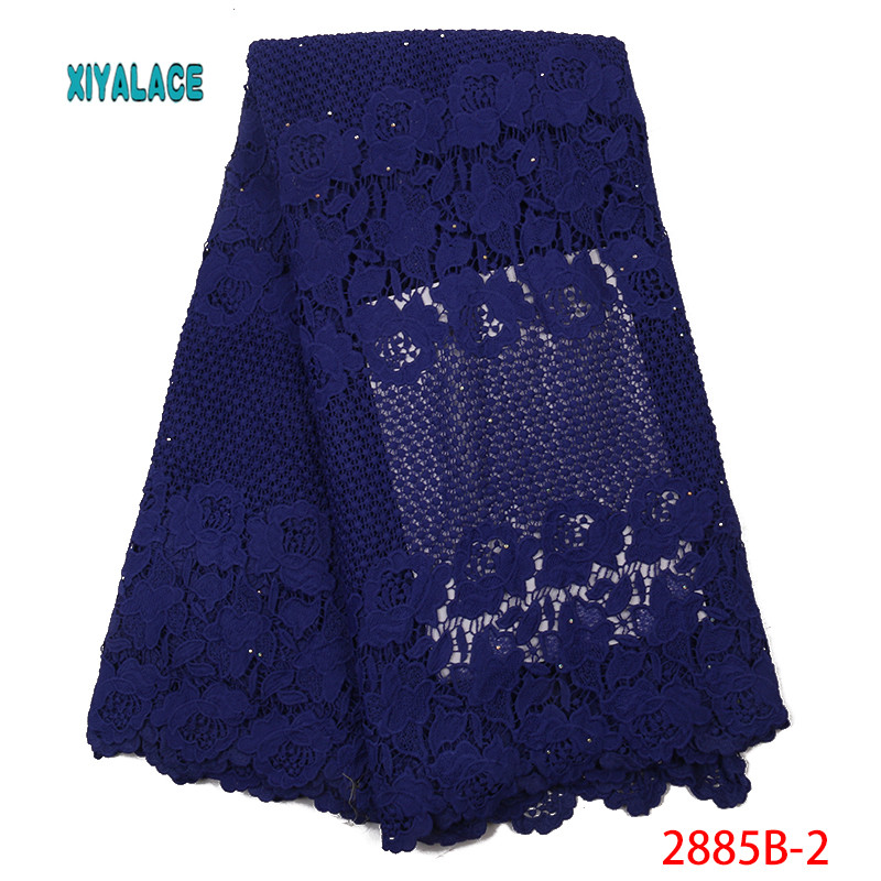 French Lace Fabric 2019 High Quality Latest African Guipure Lace Fabric With Embroidery Wedding African French Lace YA2885B-2