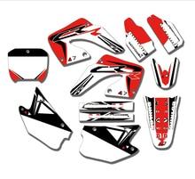 Zespół motocyklowy grafiki naklejki naklejki dla Honda CR125 CR125R CR250 CR250R 2000 2001 CR 125 250 125R 250R spersonalizowany numer darmowa
