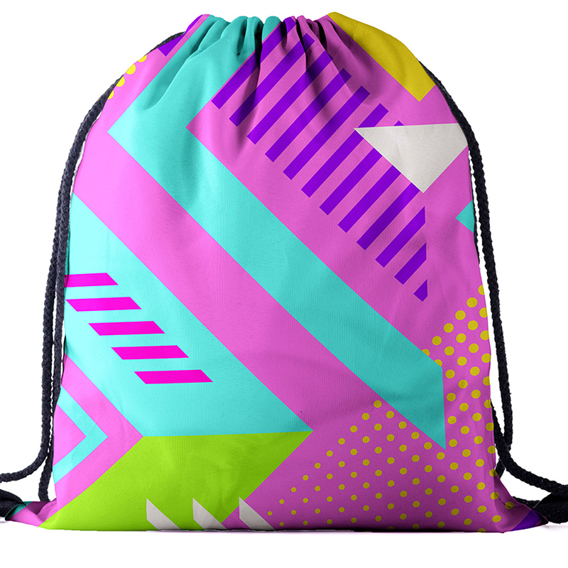 Backpack Drawstring BAGS Drawstring Fashion Printing Travel Softback Men Bags Unisex Women's Shoulder Bag Knapsack Geography New