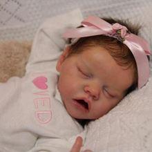 17 дюймов спальный reborn baby куклы силиконовые реалистичные