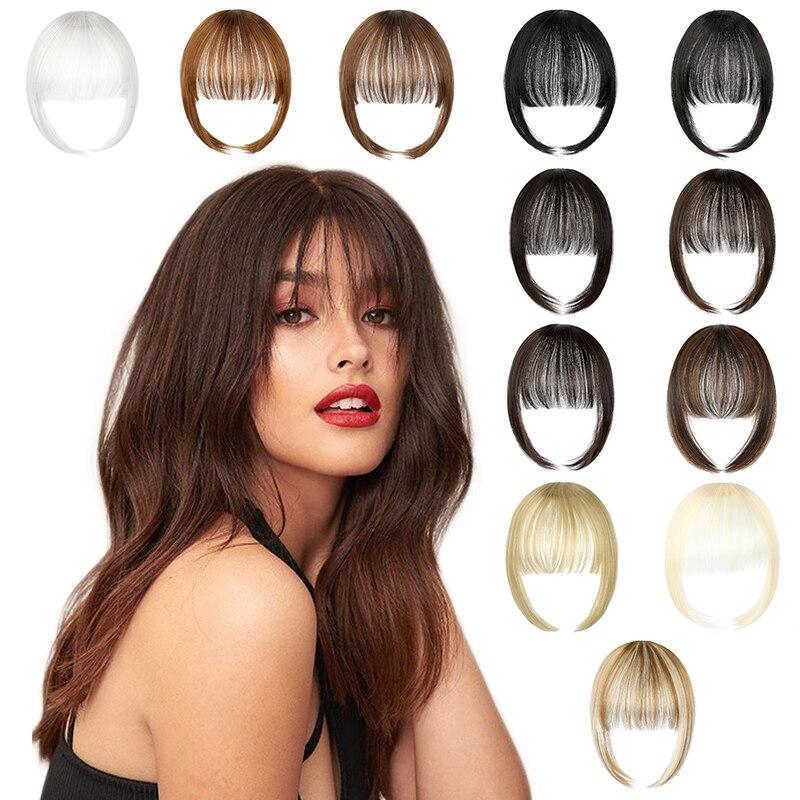 SHANGZI искусственные челки чистый взрыв синтетические волосы удлинение парик искусственные челки натуральные волосы челки черные светильни...